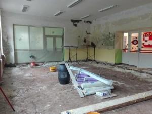Oprava MŠ - třída, léto 2018